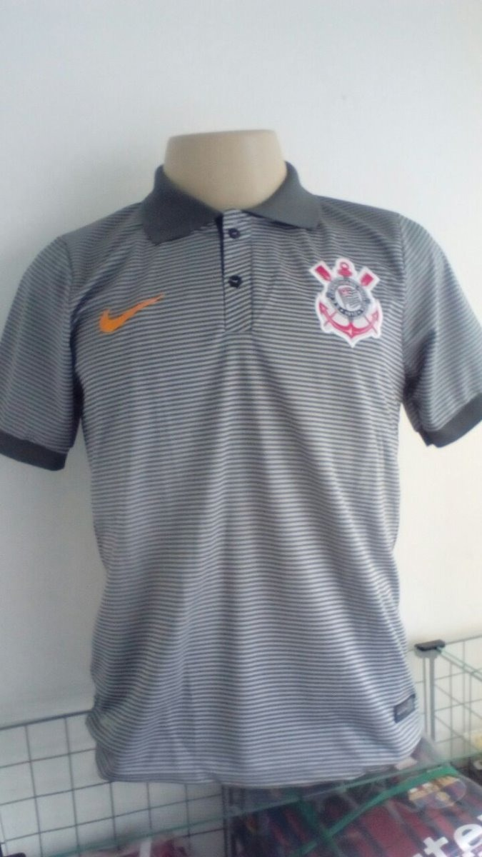 61ccae65028f6 kit 3 camisas corinthians - modelo polo - cinza. Carregando zoom.