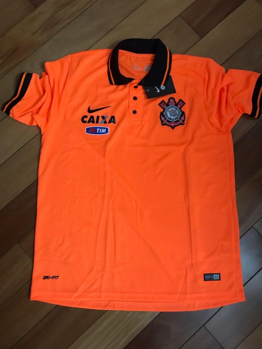 4929471a1b3a6 kit 3 camisas corinthians - modelo polo - laranja. Carregando zoom.