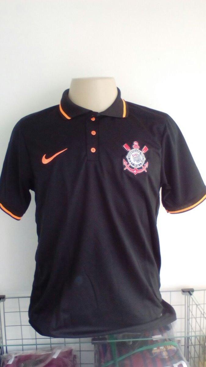 a28b8b983abb8 kit 3 camisas corinthians - modelo polo - preta com laranja. Carregando zoom .