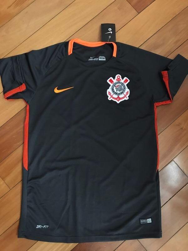 df9a9f7cc9066 kit 3 camisas corinthians - preta com laranja. Carregando zoom.