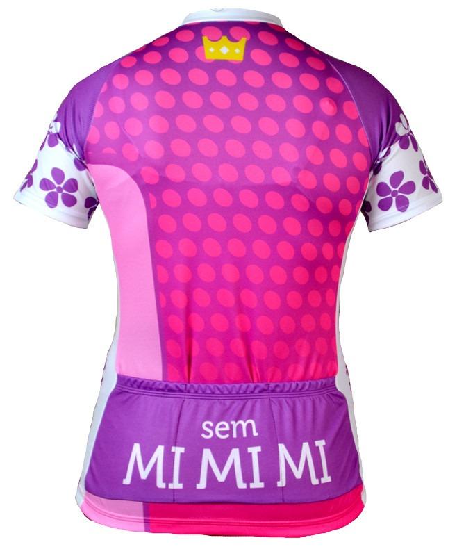 03fc7bd13da24 Kit camisas de ciclismo feminina divas da bike jpg 658x800 Preto rosa spenassatto  uniformes esportivos feminino