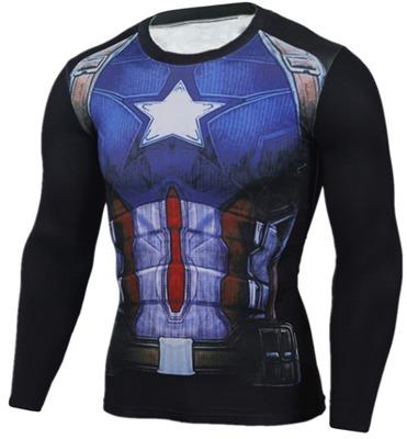 f80c3a9ac Kit 3 Camisas Herois Marvel Compressao Aranha Capitao Uv E - R  244 ...
