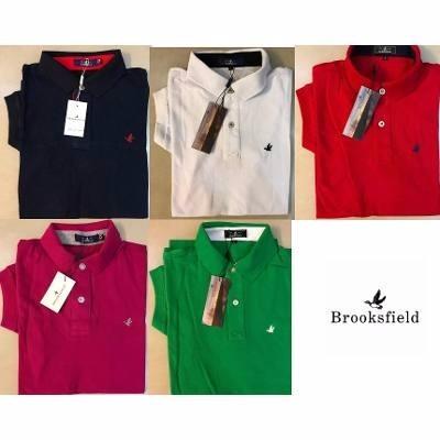 0ded9808e5 Kit 3 Camisas Polo Brooksfield Masculina Básica Frete Grátis - R ...