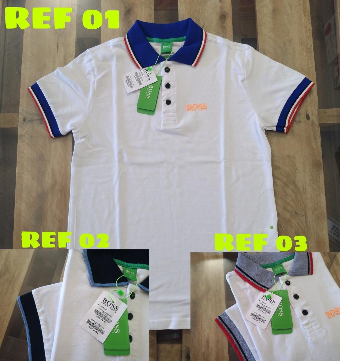 kit 3 camisas polo masculina hugo boss emborrachada promoção. Carregando  zoom. d4e19484a1