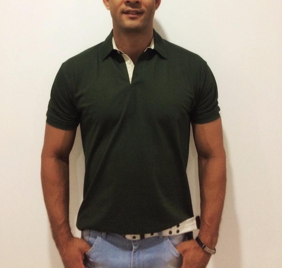 7d18a6d6f1180 kit 3 camisas polo masculina.detalhe gola manga.frete grátis. Carregando  zoom.
