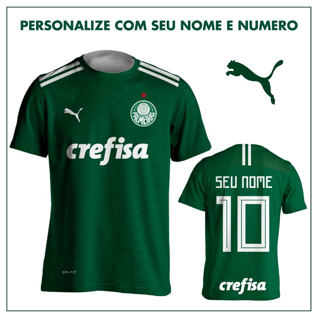 8df5c4d05f Kit 3 Camisas Puma Palmeiras 2018 Personalizada Verde - R  178