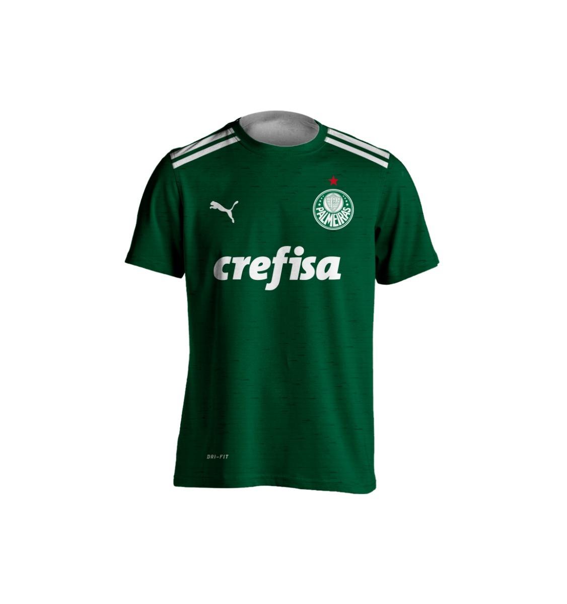 f56d5852a2afe kit 3 camisas puma palmeiras 2018 personalizada verde. Carregando zoom.