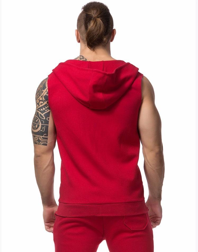b9211ca72fff9 kit 3 camisas regatas com ziper toca homem bolso com capuz. Carregando zoom.