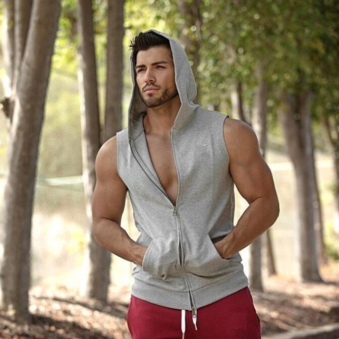 922756ab06517 Kit 3 Camisas Regatas Com Ziper Toca Homem Bolso Com Capuz - R  159 ...