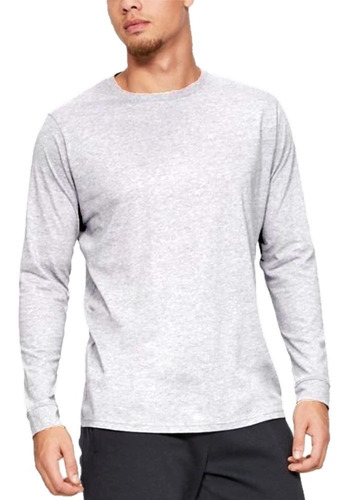 kit 3 camisas slim básica manga comprida masculina - newbeat