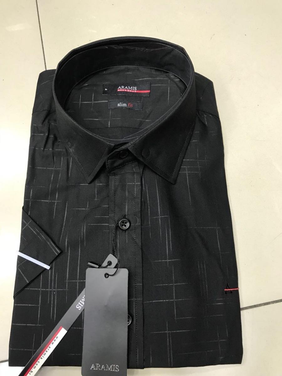 117e8be0bcc41 kit 3 camisas social aramis slim fit manga curta. Carregando zoom.