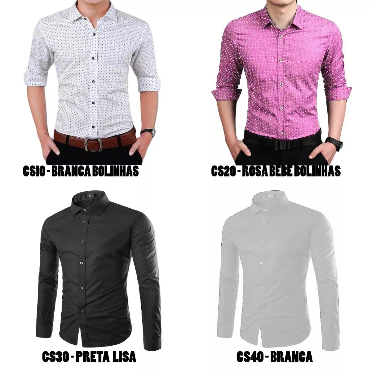 26b3aa2ba3 kit 3 camisas social masculina slim fit importada atacado. Carregando zoom.