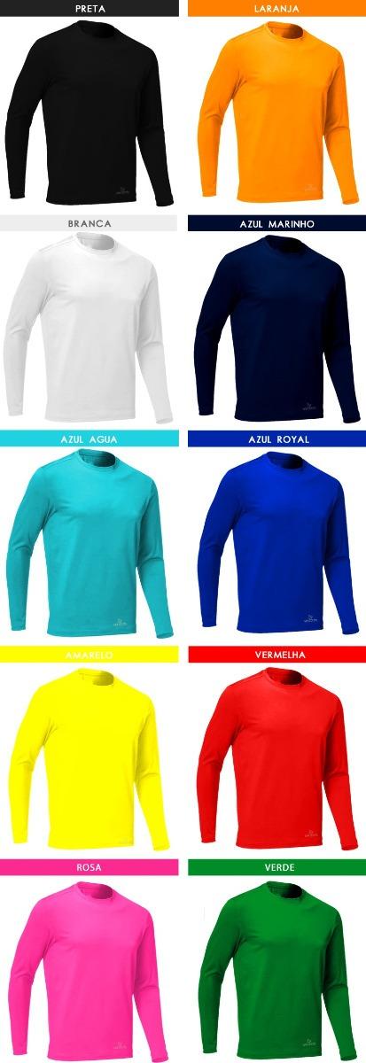 kit 3 camisas térmicas segunda pele proteção uv solar rosset. Carregando  zoom. 066e80e712cc8