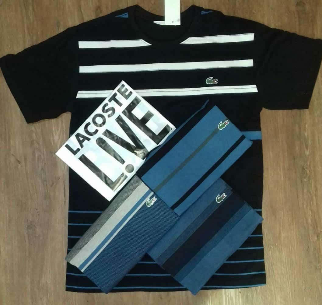869ff4739a156 kit 3 camiseta camisa lacoste live importada peruana atacado. Carregando  zoom.