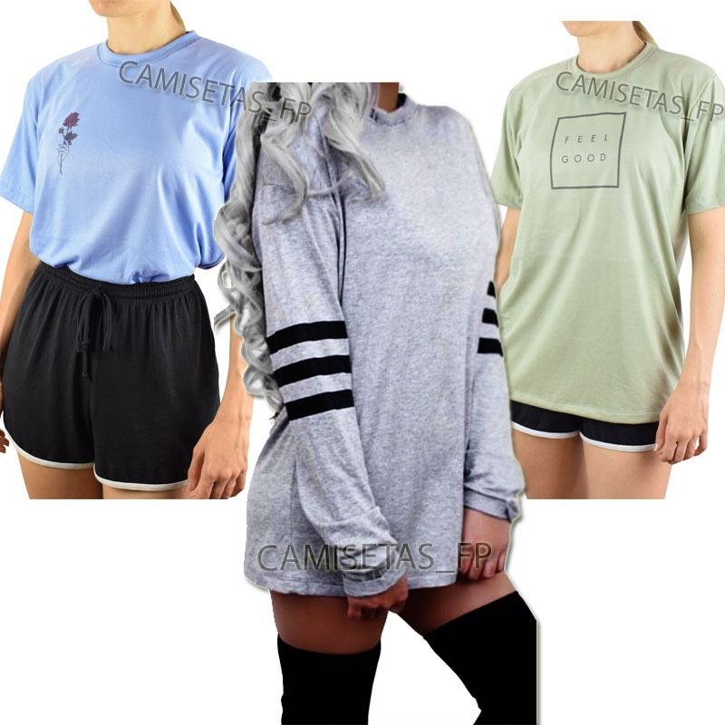 kit 3 camiseta estilo tumblr casual balada moda alternativa. Carregando zoom . 742de425f907d