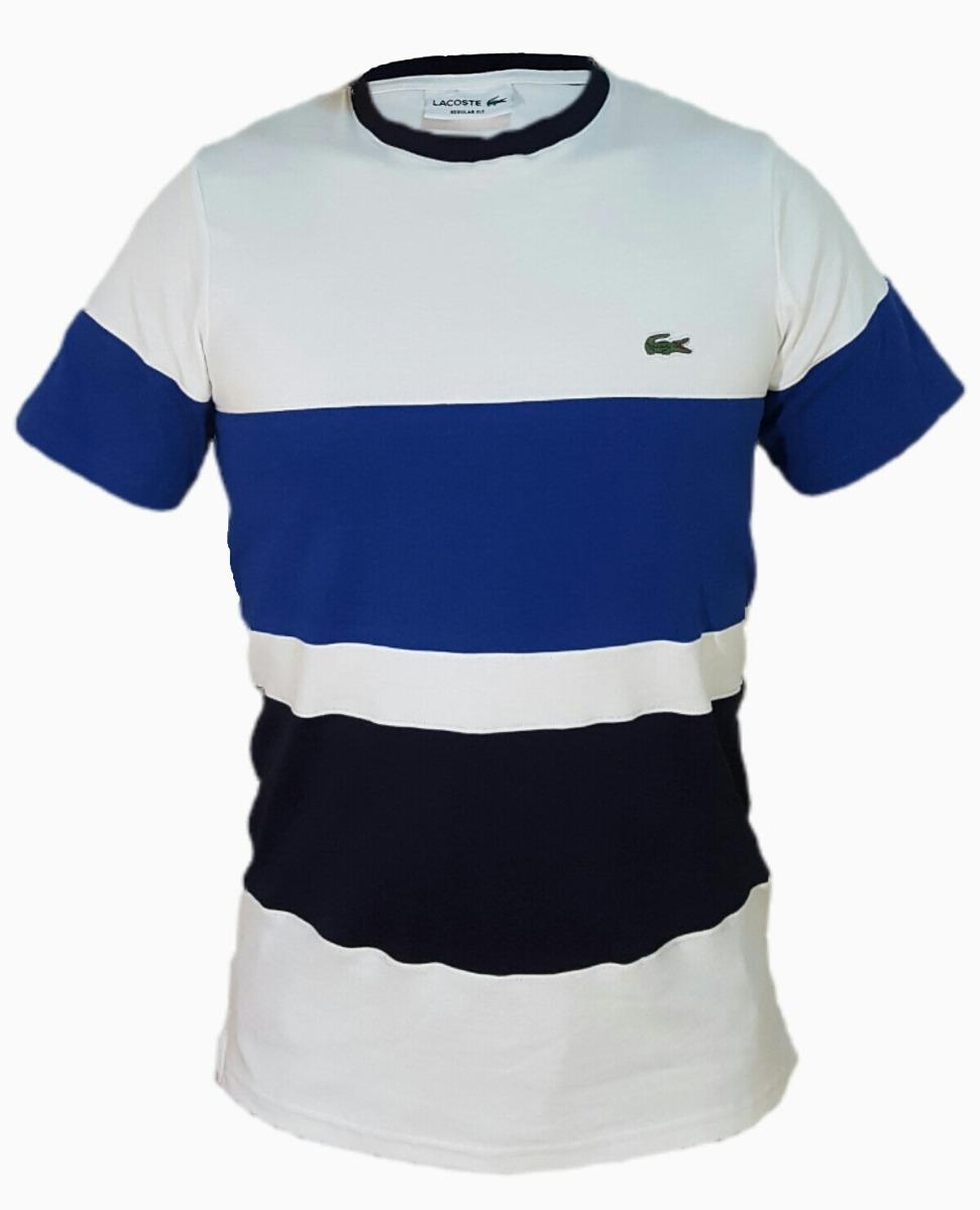 9a8aeb4ef51df Kit 3 Camiseta Lacoste Original Masculina Algodão Pima Frete - R ...