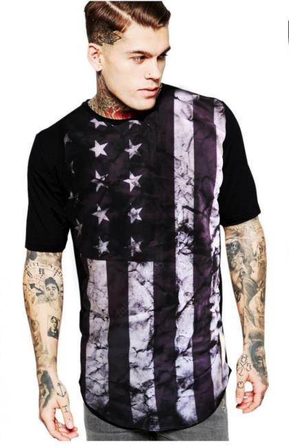 aa7d927b61 Kit 3 Camiseta Long Feminina Estampada Alongada Roupa Tumblr - R ...