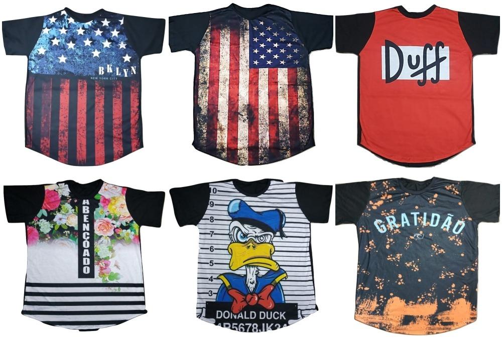5f63384f35 kit 3 camiseta long feminina estampada alongada roupa tumblr. Carregando  zoom.