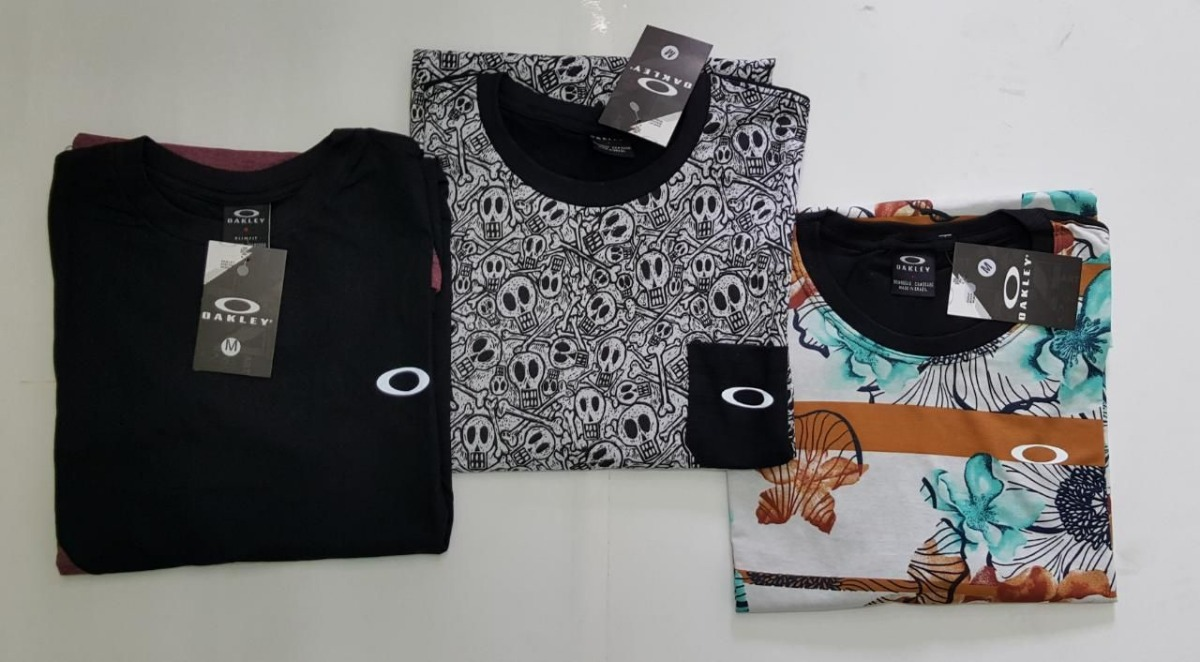 kit 3 camiseta top oakley refletiva olho de gato zoio moda. Carregando zoom. 4263420266a