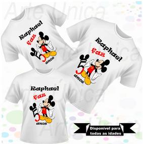 24710f5425 Kit Festa Personalizada Mickey - Camisetas e Blusas no Mercado Livre ...