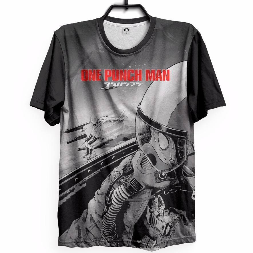 45f1e0872 Kit 3 Camisetas Full One Punch Man Saitama Avião Anime Geek - R  269 ...