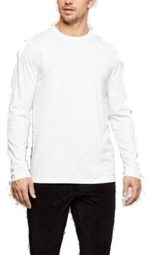 kit 3 camisetas masculinas manga longa swag algodão premium