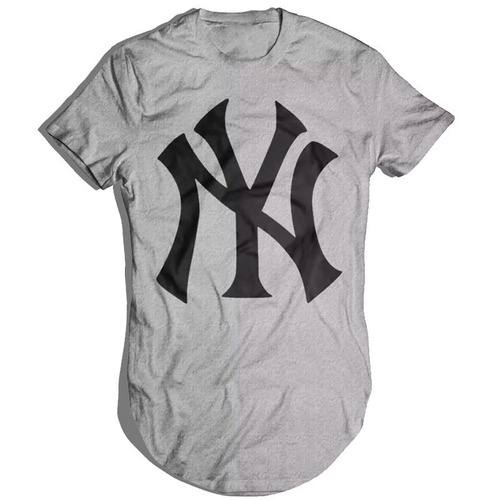 kit 3 camisetas oversized longline masculina new york