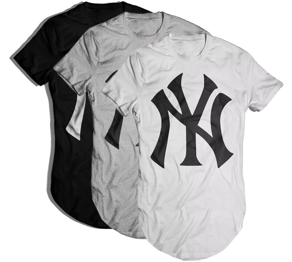 0f9165eaa0 kit 3 camisetas oversized longline masculina new york. Carregando zoom.