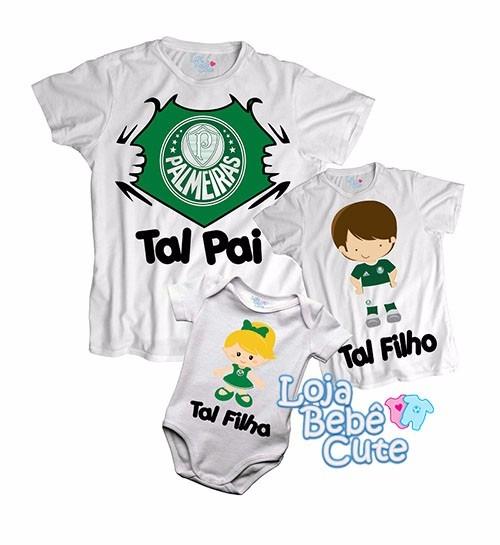 650c716924 ... elo7 imagine kit 3 camisetas tal mae pai e tal filho palmeiras qqr time