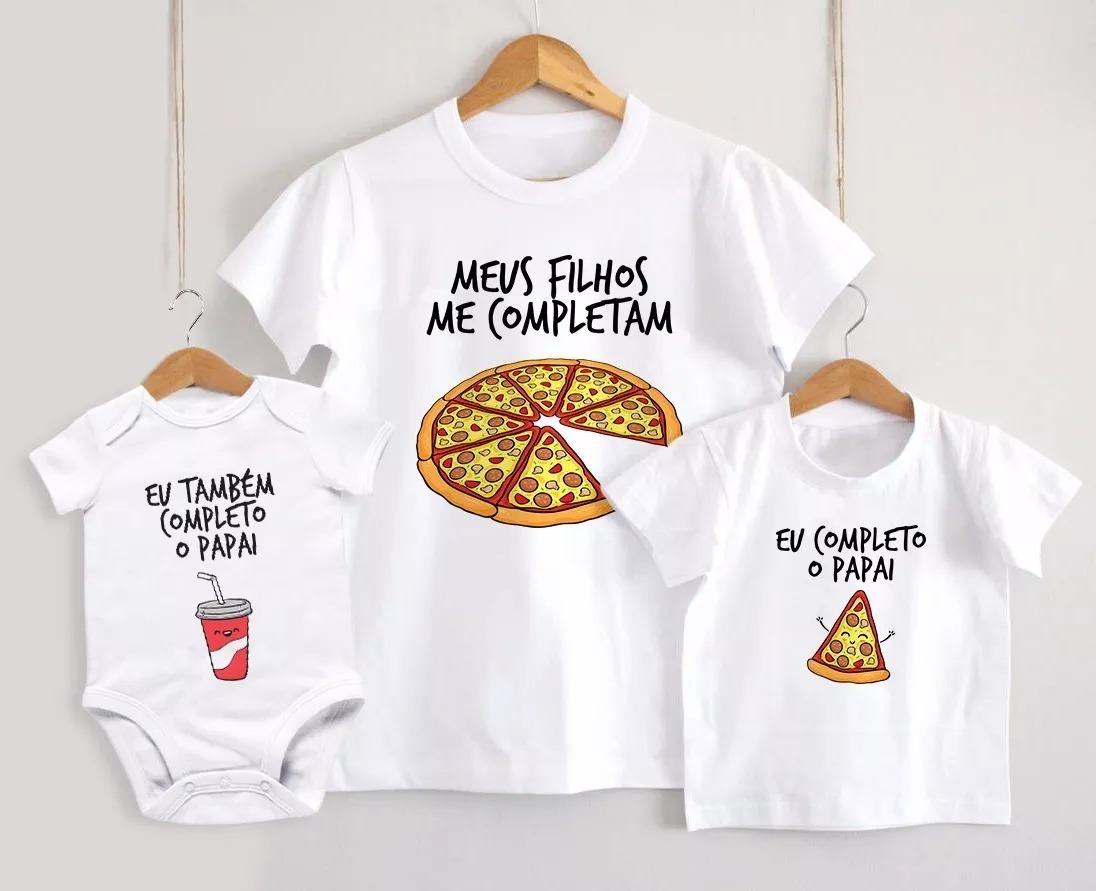 b5be58467d7da kit 3 camisetas tal pai tal filho pizza kit pai e 2 filhos. Carregando zoom.