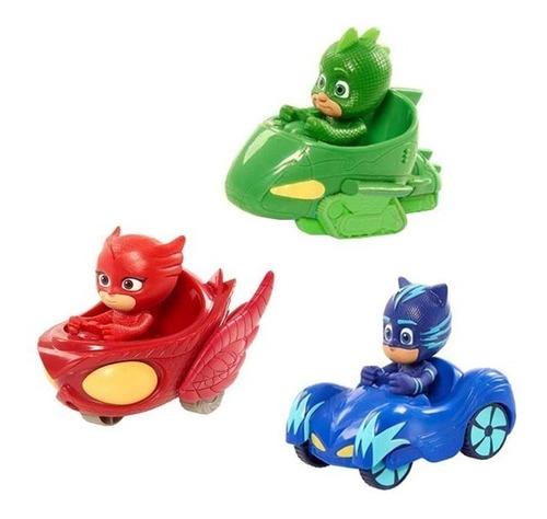 kit 3 carrinho de fricçao pj masks herois de pijama pjmasks