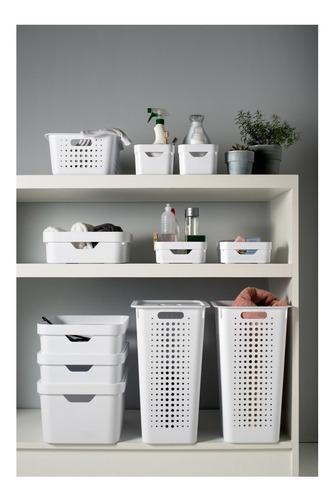 kit 3 cesto caixa organizadora cube roupa closet armário ou