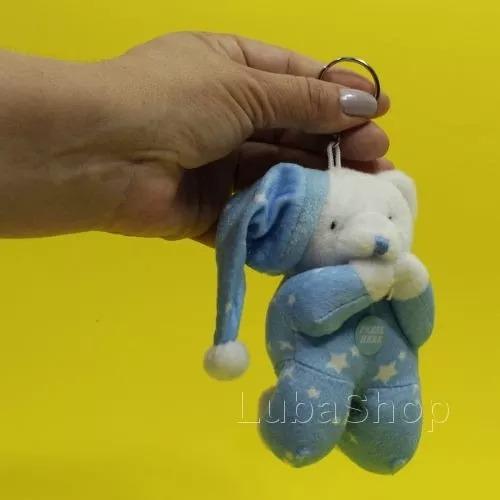 kit 3 chaveiros de urso azul que reza o pai nosso 3 ursinhos