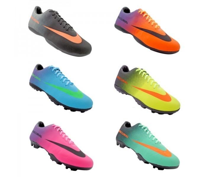 Kit 3 Chuteiras Nike Mercurial Campo Society E Futsal - R  300 0d54ff07c18fb