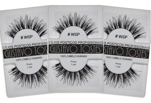 kit 3 cílios postiços #wsp wispy naturais cabelo humano