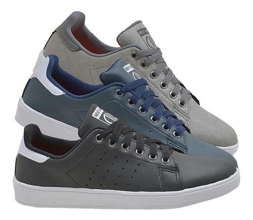 kit 3 combo sapatênis masculino sapato tênis original 760