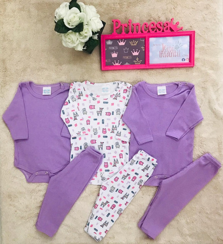 kit 3 conjunto body com calça