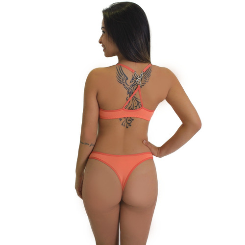 kit 3 conjunto playboy lingerie sutiã calcinha moda feminina