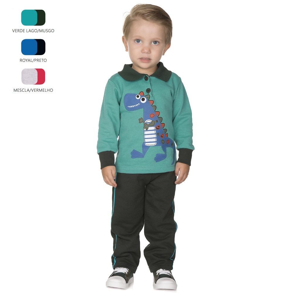 197d4a287 kit 3 conjuntos de moletom para menino de 1-2-3 anos inverno. Carregando  zoom.