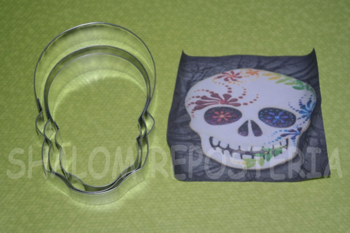 *kit 3 cortadores galleta calaveras halloween royal fondant*
