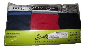 4a6598e98cc0c4 Kit 3 Cuecas Mini Boxer - Sallo Original