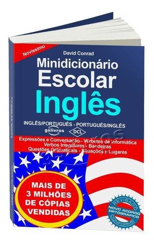 kit 3 dicionários inglês espanhol português (atualizado)
