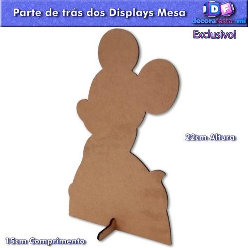 kit 3 display mdf centro mesa festa infantil minnie