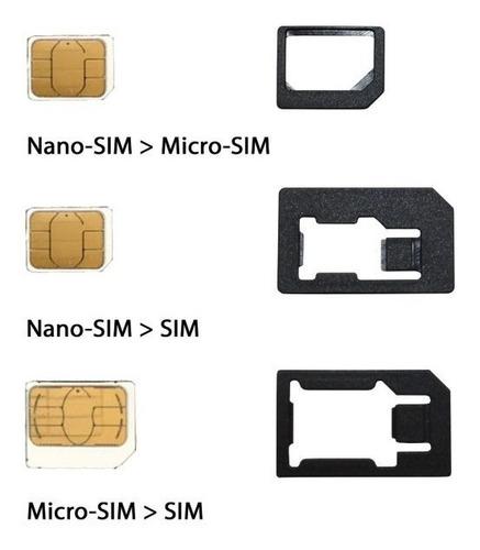 kit 3 en 1 adaptador tarjetas microsim nanosim a sim clasica