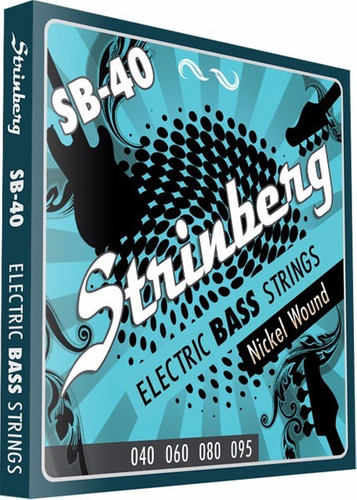 kit  3 encordoamentos contra baixo 4 cordas sb-40 strinberg