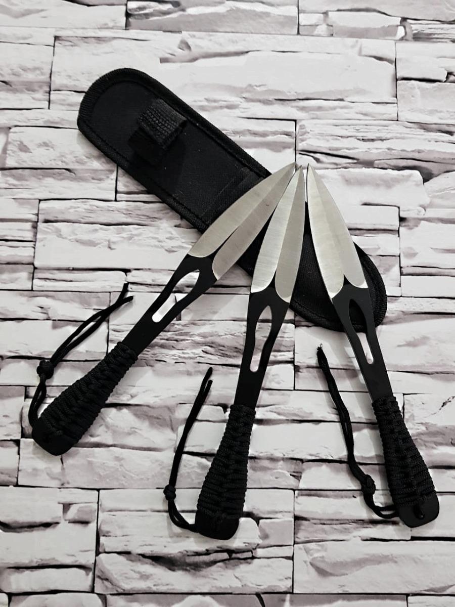 kit 3 facas arremesso kunai ninja punhal black + bainha. Carregando zoom. 7522c0cf50f1d