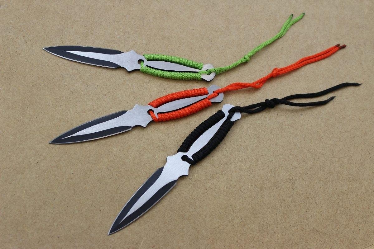 kit 3 facas faca adaga de arremesso kunai ninja. Carregando zoom. c22d826d1172a
