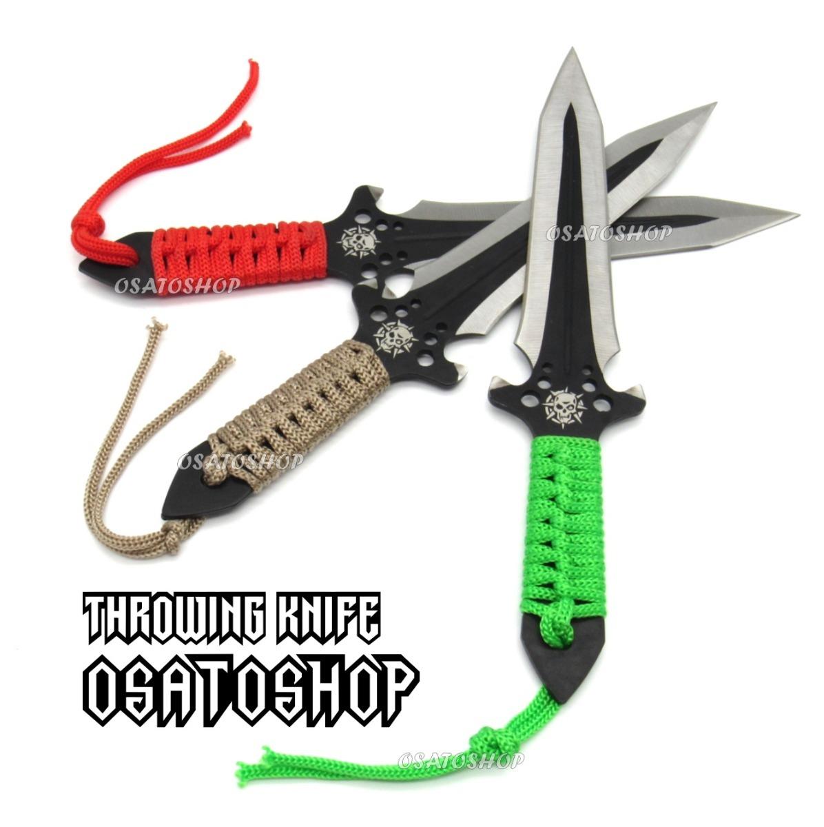 kit 3 facas jogo de arremesso kunai punhal táticas ninja. Carregando zoom. 25364d0d30def