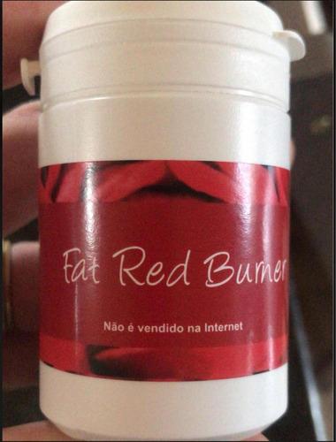 kit 3 fat red burner original + frete grátis + brinde