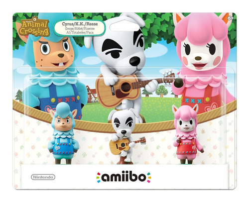kit 3 figuras amiibo serie animal crossing nintendo wii u